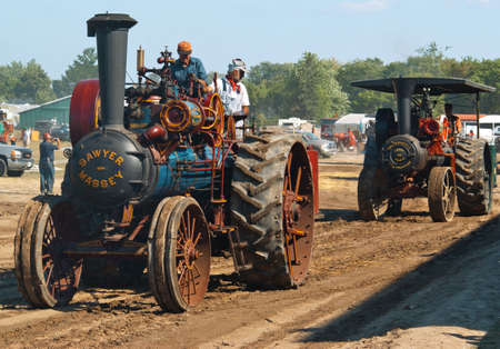 traction: MILTON, ONTARIO, CANADA - AUGUST 28, 2008: Annual Steam Era featuring