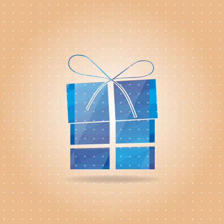 vectorial blue New Year s gift Vector