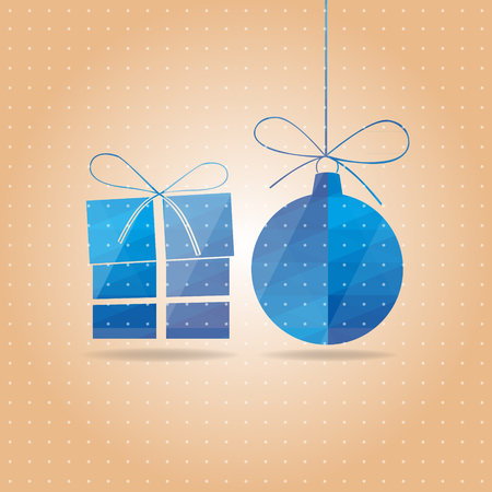 vectorial blue New Year s card Vector