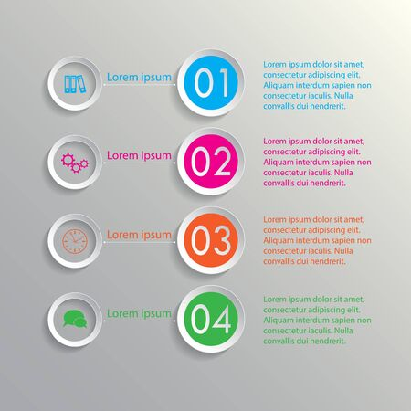 Four colorful rings options infographic