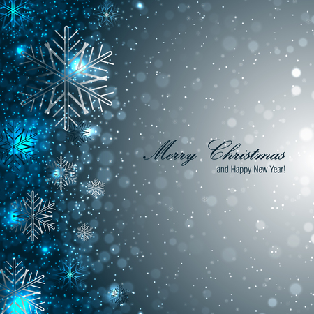 Elegant christmas background with snowflakes Zdjęcie Seryjne - 23244426