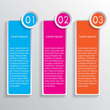 three colored: Three colored speech banners Illustration