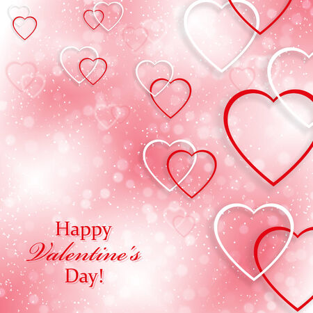 valentine s day: Background for Valentine s Day with hearts Illustration