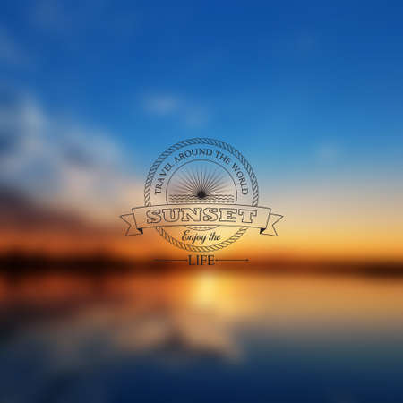 vectorial: Vector abstract background blur with sunset  Beautiful vectorial sunset  Can be used for decoration magazines, websites, banners interest