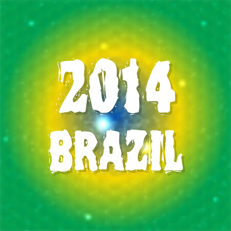 Abstract background blur with colors of the Brazilian flag  Brazil summer 2014  Vector