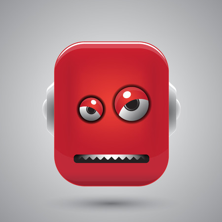 Head of the angry robot Vector