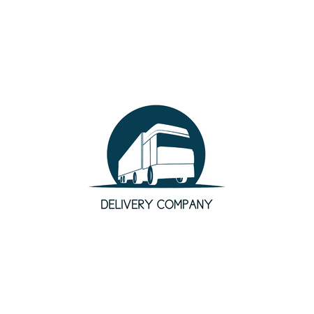 intercity: Delivery company template. Intercity transport company concept.