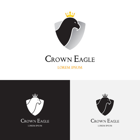 law office: Vector template of the eagle for law office and other use. L