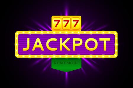 Vektor-Illustration für die Gewinner der Lotterie, Gewinner von Poker, Gewinner der Karten und der Gewinner des Roulette.