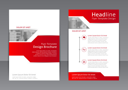 Vector template of brochure with place for picture for your business in A4 size. Zdjęcie Seryjne - 58460404