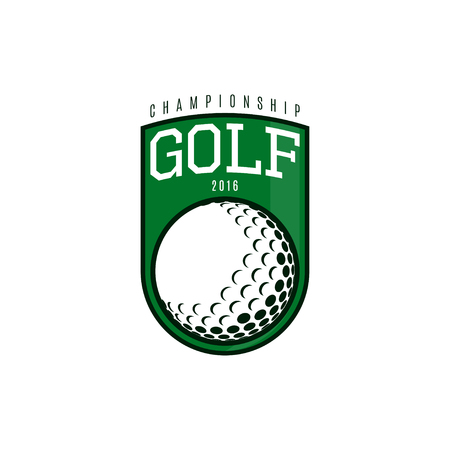 championship: Logo of golf championship. Vector illustration