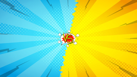 Vector illustration. Decorative background with bomb explosive in pop art style