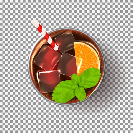 rum: Vector illustration with realistic fresh summer drink. Illustration