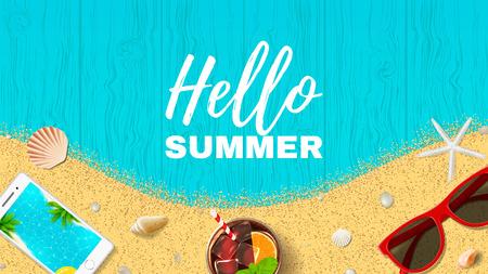 Summer holiday web banner Illustration