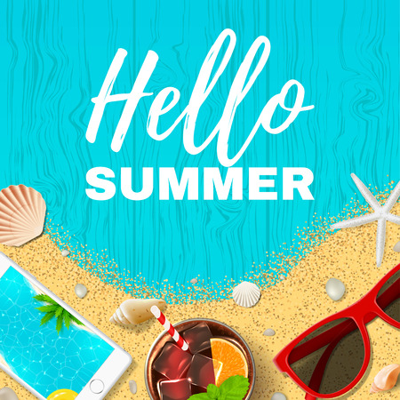 Hermoso fondo de vacaciones de verano