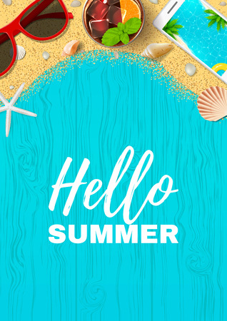 Beautiful summer vacation poster Illustration