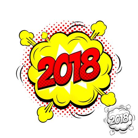 Illustration in Pop Art Style dynamic cartoon symbol isolated on white backdrop. Zdjęcie Seryjne - 88233274