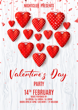 Valentines Day party poster.
