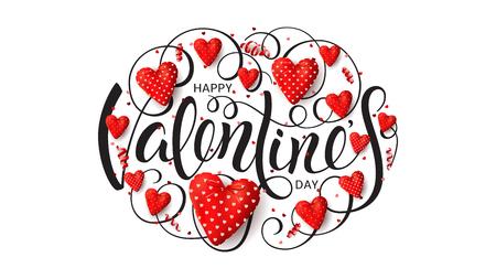 Happy Valentine day banner with heart design