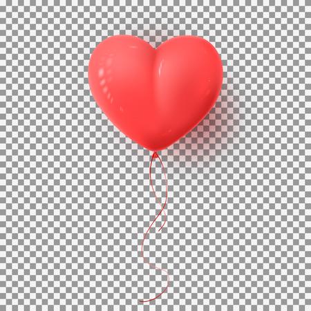 Red Symbol of Valentine's Day in the Form of Heart. Vector Illustration. Ilustração
