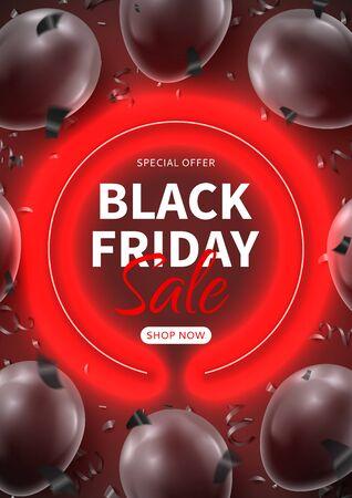 Dark flyer for Black Friday sale.
