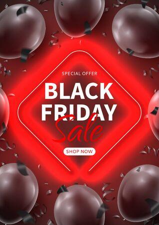 Black Friday sale dark poster.