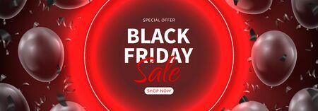 Horizontal dark banner for Black Friday sale.
