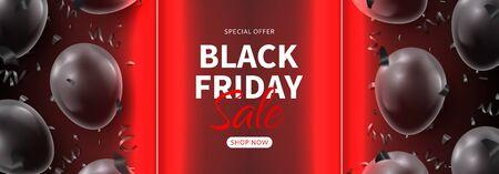 Black Friday sale horizontal promo banner.