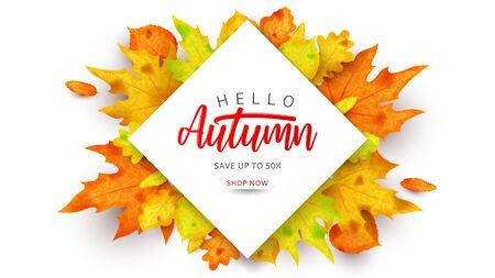 Autumn sale promo banner.