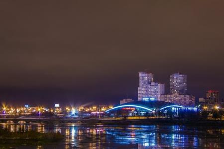 Chelyabinsk night city 写真素材
