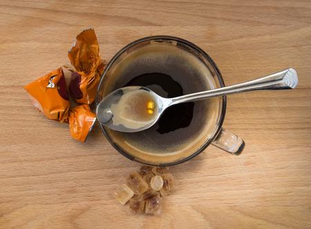 skim: coffee with candy