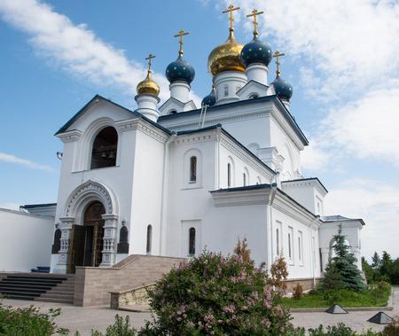 Beautiful white Church in Chelyabinsk