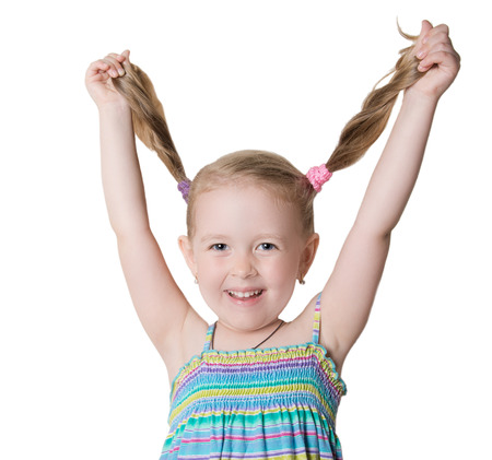 promotes: cheerful happy child Stock Photo