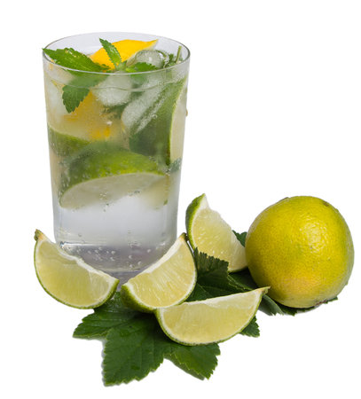 refreshing: refreshing cocktail with citrus