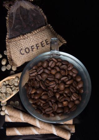 invigorating: invigorating coffee beans with coffee bag