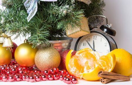 christmas atmosphere: christmas atmosphere and fruit