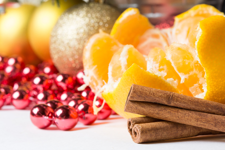 christmas atmosphere: cinnamon in pleasant christmas atmosphere Stock Photo