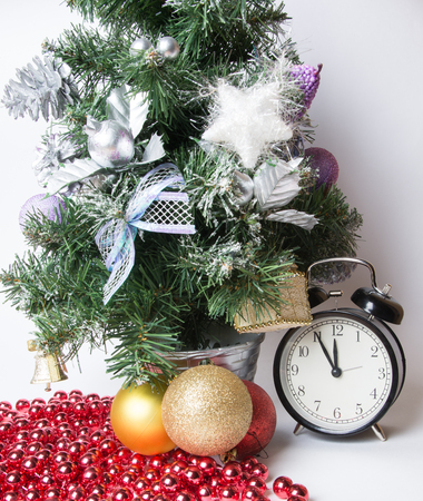 christmas atmosphere: clock in christmas atmosphere