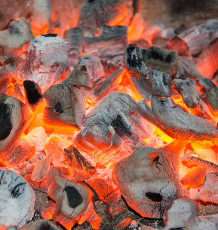 fireplaces: hot red coals in the hearth