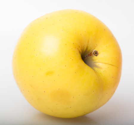 big apple: yellow ripe big Apple Stock Photo