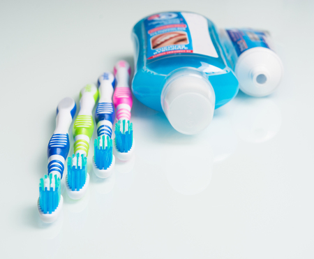 personal hygiene: personal hygiene items on a table
