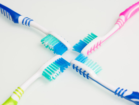 vivid toothbrush on a white table