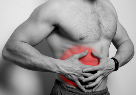 spasms: pain in the liver area