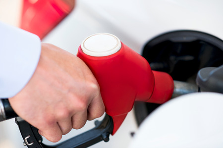 fuelling pump: gas station vehicle with fuel Stock Photo