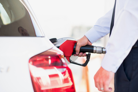 fuelling pump: gas station vehicle with quality fuel
