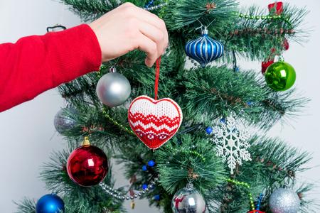 Caja de regalo de Navidad con cinta Foto de archivo