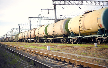 freight train stalled on the