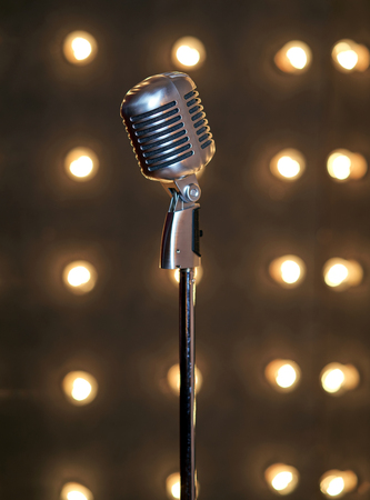 beautiful big microphone Standard-Bild