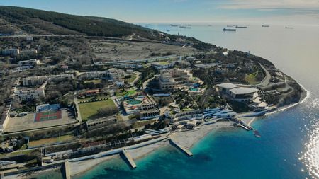 view of the hotel by the sea from the air