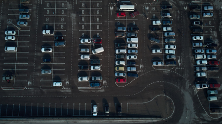 air view of the Parking 写真素材